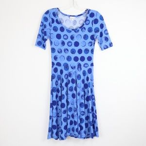 LulaRoe Nicole Blue Dress